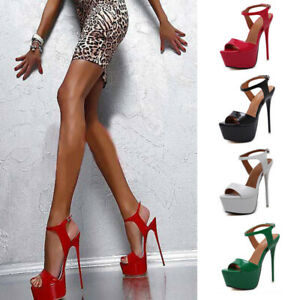 Fashion-Women-Super-High-Heels-Platform-Pumps-Ankle-Strap-Stiletto-Sandals-Shoes