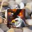 Soaring Eagle art cabochon verre argent Tile Chaîne Collier Pendentif Bijoux Hot