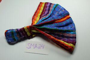 Guatemalan HEADBAND Hand Made Solid Blue Chalina Head Band Wrap SMALL SMA20