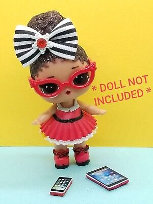 6 PC LOL Surprise Doll Accessories Random Bows Lot *Unicorn Not Included*
