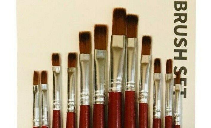 Artistas Pintura Cepillo Conjunto Fine pasatiempos artesanías Cepillos creación de modelos paquete de 12