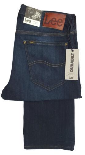 Da Uomo Lee Daren X-LONG Gamba Tall Regular slim fit low Rise Jean-Scuro Blu Indaco