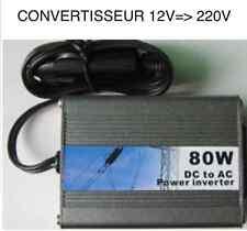 CONVERTISSEUR 12V=>220V 80W! SUPER COMPACT 4X4 BATEAU TOP COMPACT! ROBUSTE UTILE
