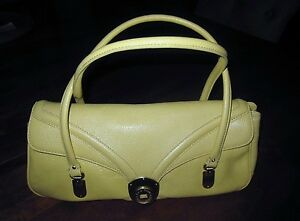 New-Cole-Haan-Jasmine-Yellow-Leather-Shoulder-Bag-Satchel-Handbag
