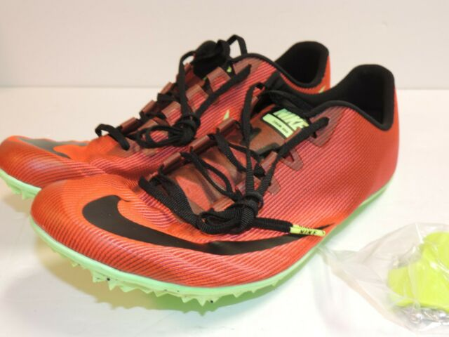 Nike Zoom 400 Running Track Spikes Orange Red Black Volt SZ AA1205-663