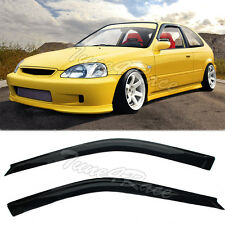 Fits 96-00 Honda EK Civic Sedan JDM Side Window Visors Rain Guards Deflector 3dr