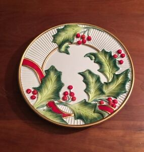 Fitz and floyd noel classique ceramic christmas canape for Fitz and floyd canape plate