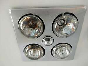 Heater Exhaust Fan Silver Heat Lamp, Bathroom Heat Light