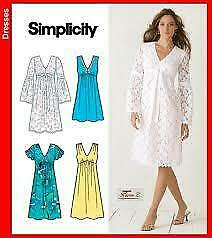 Simplicity-Sewing-Pattern-3831-Misses-Dress-Two-Lengths-Size-8-16-Uncut