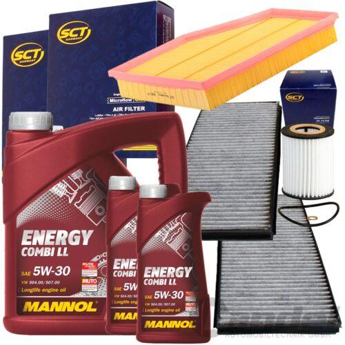 MANNOL 5w30 petróleo bmw 5er e60 e61 520 525 530 i 170-231 CV Filterset filtro frase
