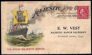 Ee. Uu. 1921 Publicidad Cubierta Majestic Fabricación st Louis MO Franqueado