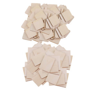 100 Blank Wood Pieces for Craft Pyrography DIY Wood Plaque Home Decor Sign