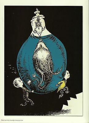 "Dr. Seuss. ""One Fish Two Fish Red Fish Blue Fish!"" Reproduction Print"