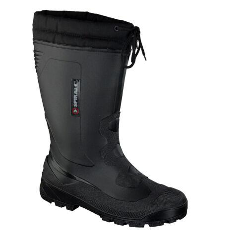 Espiral John señores botas de goma nieve botas trabajo botas cálidas forro