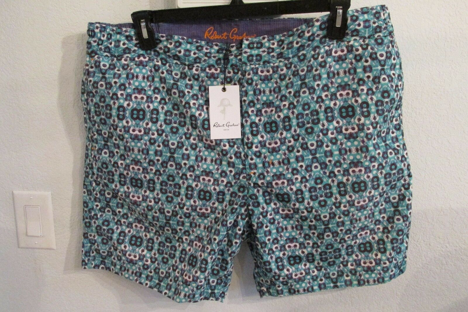 NWT ROBERT GRAHAM SIZE 40 & 42 STAR CLIPPERS WOVEN SWIM TRUNKS MSRP