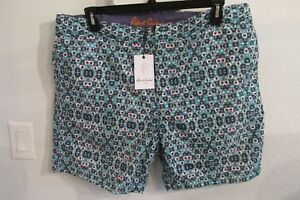 NWT-ROBERT-GRAHAM-SIZE-40-amp-42-STAR-CLIPPERS-WOVEN-SWIM-TRUNKS-MSRP-118-00
