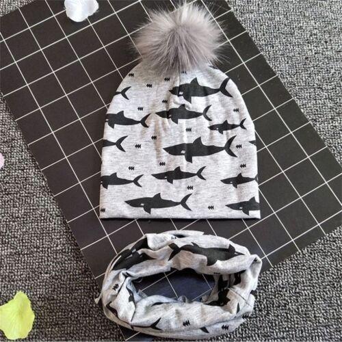 UK Newborn Toddler Kids Baby Boy Girl Turban Cotton Beanie Hat Winter Cap Scarfs