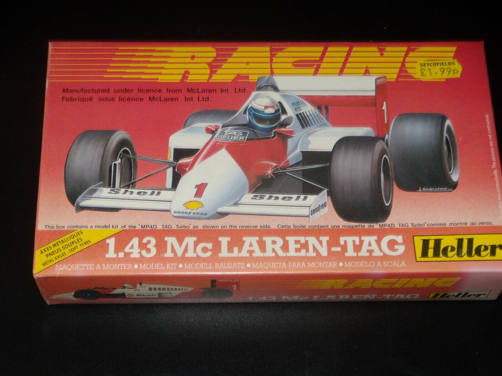 5 - mc laren-tag - heller - - carreras - heller f1 - 1   43 - en - kit - nueva sellado e4ded0
