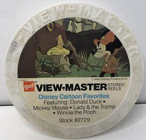 Vintage Lot 15 GAF View Master Reels Disney Cartoon Favorites & More Stock #2729