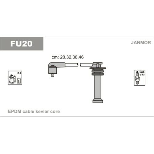 Janmor BERU Set di cavo di accensione zündleitung Set Ford 2722986