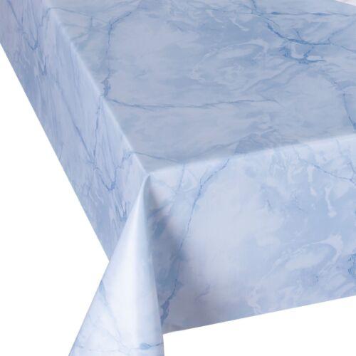 Wachstuch Tischdecke LACK MARMOR Hellblau LFGB Breite /& Länge wählbar abwaschbar