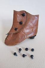 Lot 12 boutons bottines 3-4mm chaussures poupées anciennes-Button doll shoes