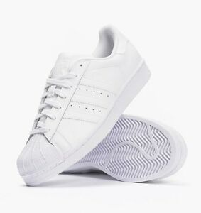 Image is loading ADIDAS-SUPERSTAR-TRIPLE-WHITE-FOR-BOYS-GIRLS-amp-