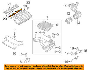 bmw oem 01 06 325ci engine intake manifold gasket 11611436631 ebay chevy  cobalt engine diagram intake
