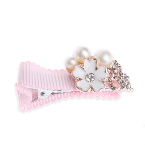 Baby Girl Kids Princess Crown Pearl Flower Hair Clip Hairpins Hair Accessories