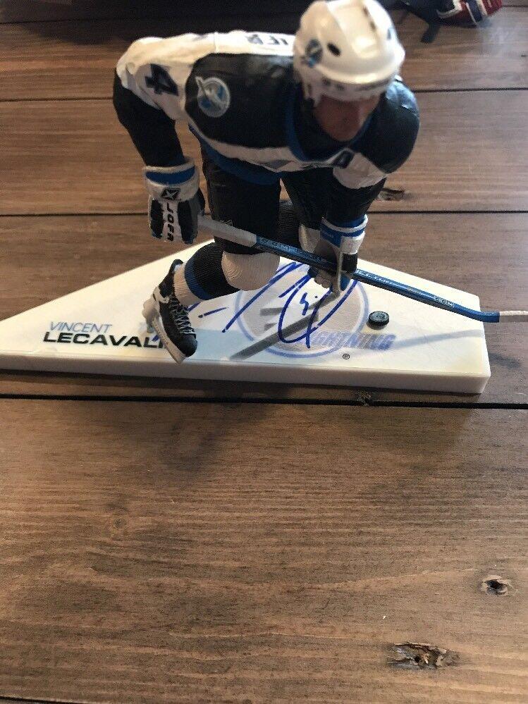 Signed Vincent Lecavalier Mcfarlane  NHL  Series 6 Figure Autograph