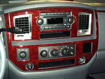 DODGE RAM 1500 2500 3500 SLT INTERIOR BURL WOOD DASH TRIM KIT SET 2006 2007 2008