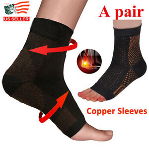 1-Pair-Magnetic-Copper-Compression-Relief-Ankle-Support-Brace-Foot-Sleeve-Socks