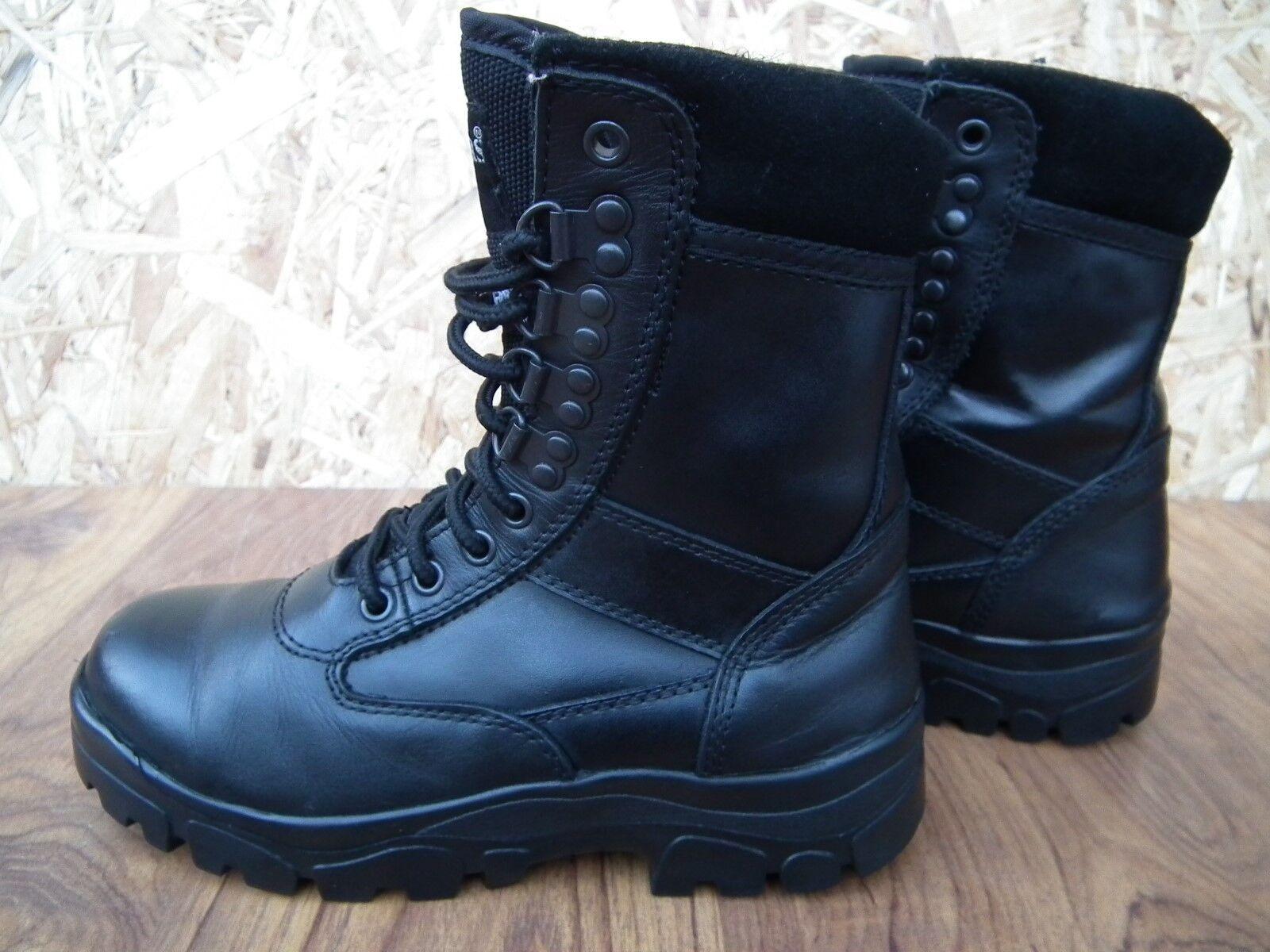 GRAFTERS da Uomo Ragazzi Combat pelle Cadetto Stivali tattici in pelle Combat nera Taglia UK4 M671A d423fc