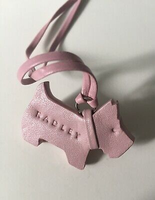 Radley Leather Dog Tag Handbag Charm