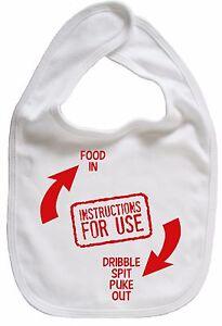 Funny-Baby-Bib-034-Instructions-For-Use-034-Boy-Girl-Newborn-Gift