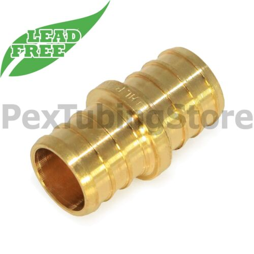 "LEAD-FREE 25 5//8/"" PEX Couplings Brass Crimp Fittings"