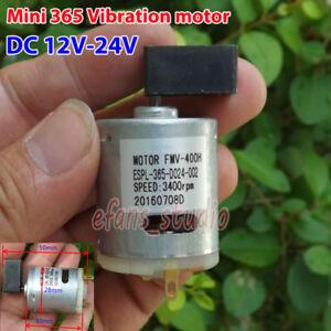 Fuerte DC12V-24V Motor de Vibración Super fragmento Shake cabeza Mini 365 Motor de Vibración