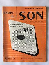 REVUE DU SON N°43 NOV 1956 CINEMA SONORE TSF ART TECHNIQUE MAGNETOPHONE