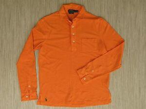 Polo Shirt taglia uomo Ralph Orange Lauren da M a maniche Rugby lunghe SwBxqSTU