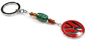 Gemstone Key Chain Malachite And Agate Keyring Holder Lanyard Birthday Gift