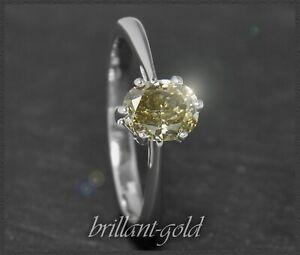 Diamant-Damen-Solitaer-Ring-mit-1-10ct-aus-585-Gold-14-Karat-Weissgold-Neu