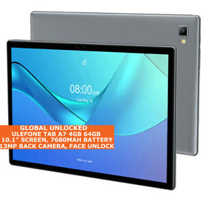 """ULEFONE TAB A7 4 Go 64 Go Octa-Core 10.1"""" visage ID Dual SIM Android 11 LTE Tablette"""