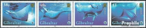 Gibraltar 11501153 quad strip mint never hinged mnh 2006 Conservation Teufelsro