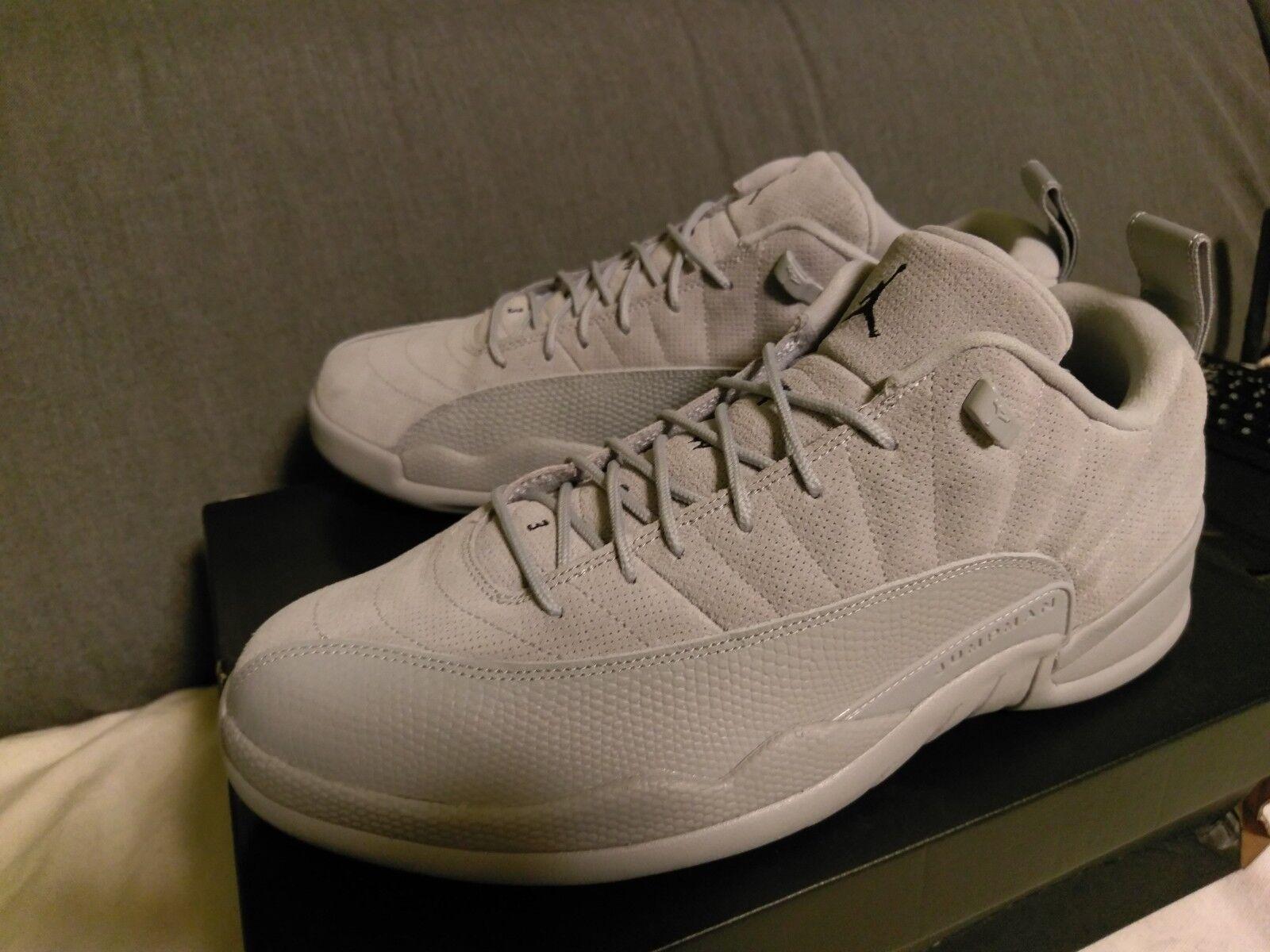 Neu Nike Air Jordan 12 Retro Low Low Low  Wolf grau  Größe 47,5 US 13 Nike Air    25f308