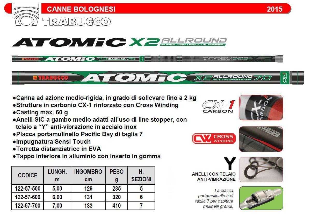 CANNA BOLOGNESE TRABUCCO ATOMIC X2 X2 X2 ALLROUND  MT 7  ECONOMICA  E POTENTE  !!! 9ace73