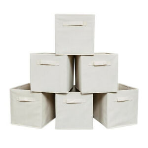 6pc-Home-Fabric-Storage-Boxes-Closet-Organizer-Cube-Bins-Basket-Drawer-Container