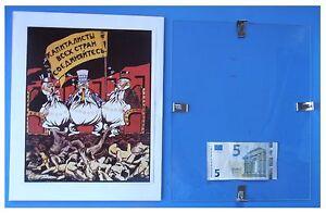 Capitalismo-mondiale-Russia-URSS-Comunismo-quadro-cornice-vetro-cm-30x24
