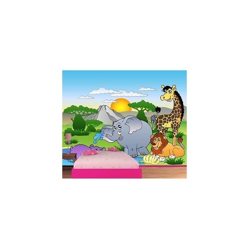 Carta Dipinto Bambino Gigante Animali Jungle 605