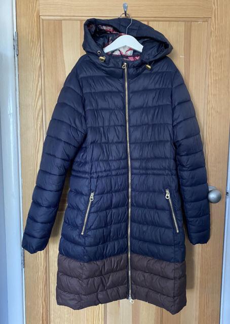 Women's PADDED Coat, Black, Navy, Sizes 8 to 16 (UK 14, Navy)
