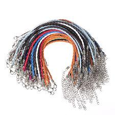 10pcs mix colours Braid leather bracelet fit European beads 3mm 19cm/7.48''